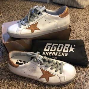 Golden Goose superstar white/gold sneaker